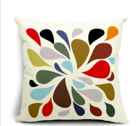 Quality Cotton Linen cushion covers, inspired by modern abstract design.•Cotton Linen cushion covers (insert not included) •Size: 45cm x 45cm •Sleek invisible zipper •Pattern on one side, no print on reverse •Weight: 180g •Ideal for your living room, bed room & home decor.  http://ozurban.com/collections/cushion-covers/products/kaleidoscope-design-cushion-covers #cushions #cushioncovers #homedecor #interiordesign #splash #raindrops #colours #design