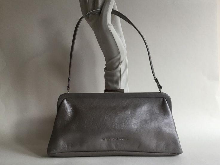 Rocha John Rocha Designers At Debenhams Dark Silver Grab Handle Leather Handbag  | eBay