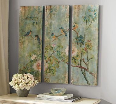 Bird & Branch Triptych Panels #potterybarn