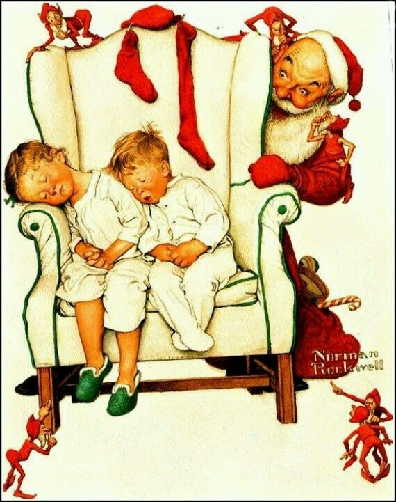91 best Christmas Norman Rockwell images on Pinterest | Norman ...