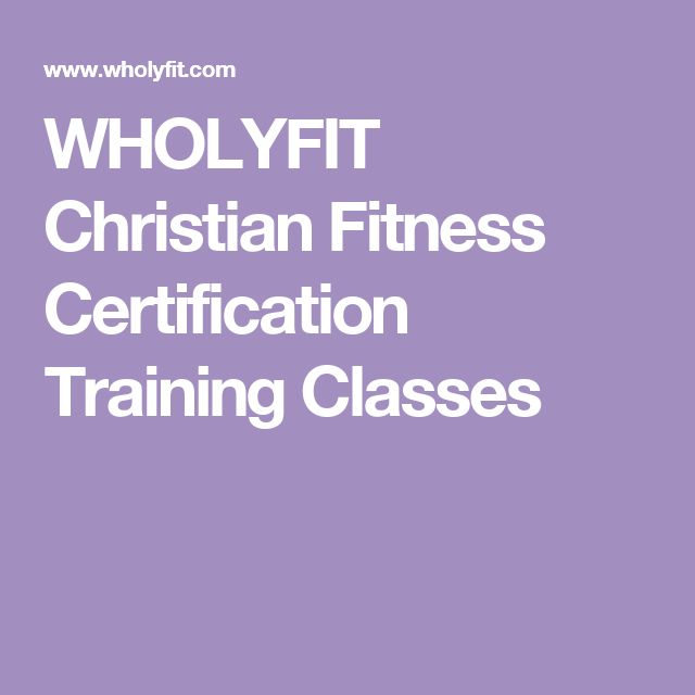 WHOLYFIT Christian Fitness Certification Training Classes