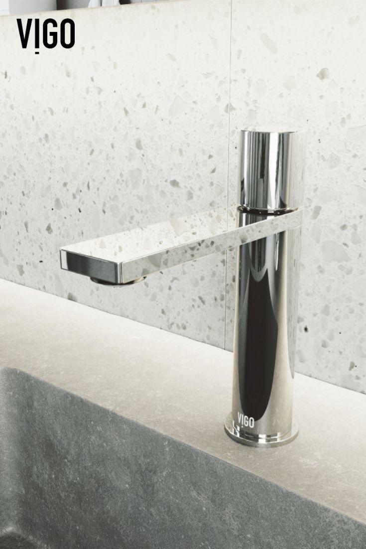 Vigo Halsey Single Hole Bathroom Faucet In Chrome Single Hole Bathroom Faucet Bathroom Faucets Faucet [ 1102 x 735 Pixel ]