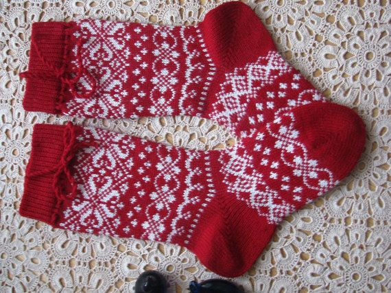 Hey, I found this really awesome Etsy listing at https://www.etsy.com/listing/218608861/red-knit-socks-wool-socks-knitted-socks