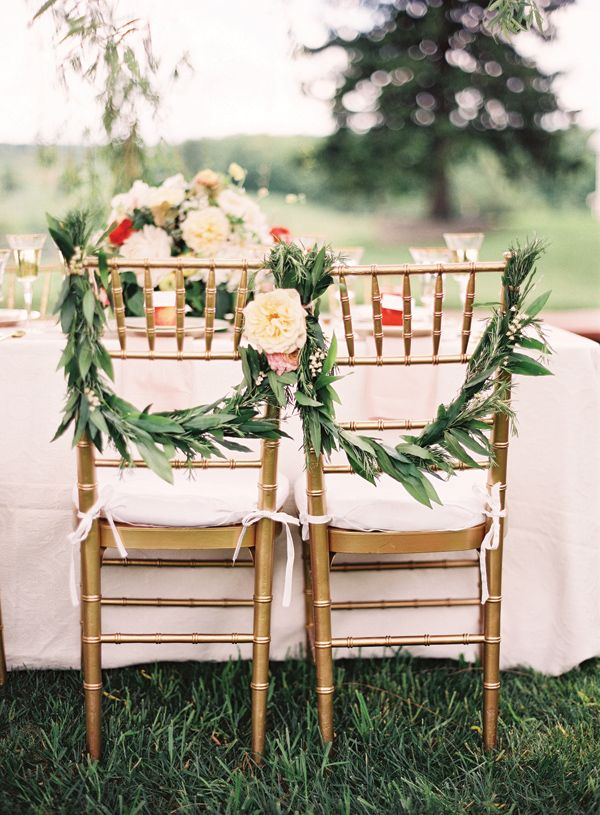Image result for wedding guest chairs garlands