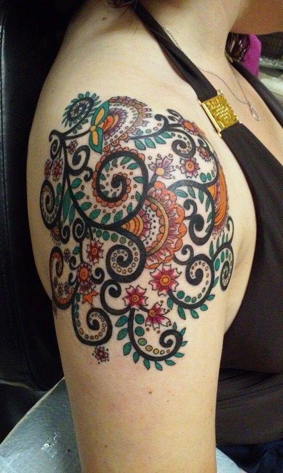 Paisley design tattoo