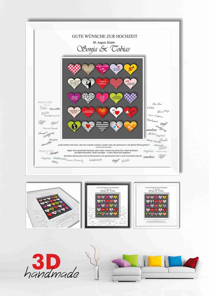 12 besten Bilderrahmen 3D Gästebuch Hochzeit DIY Geschenke Bilder