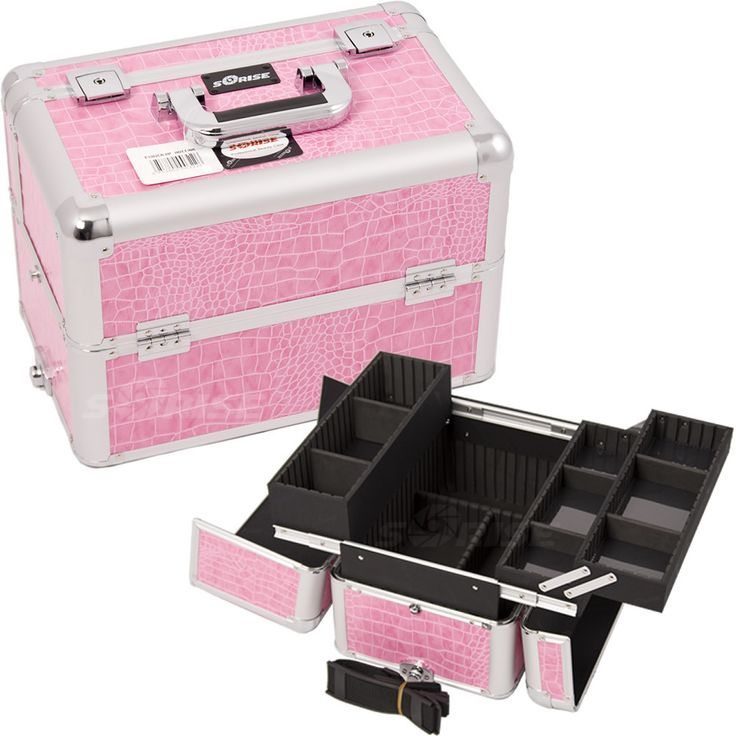 Pink Croc Pro Makeup Case - E3302 - salonhive.com