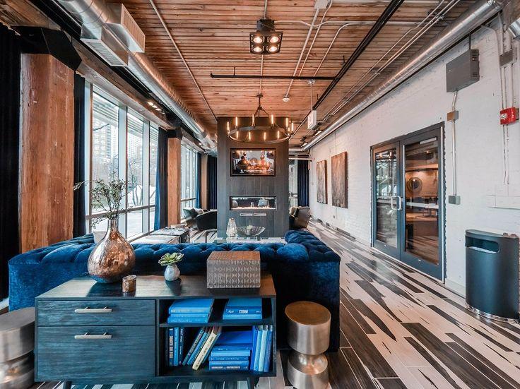 These boutique loft apartments have an eclectic style that combines sumptuous velvet sofas iron chandeliers