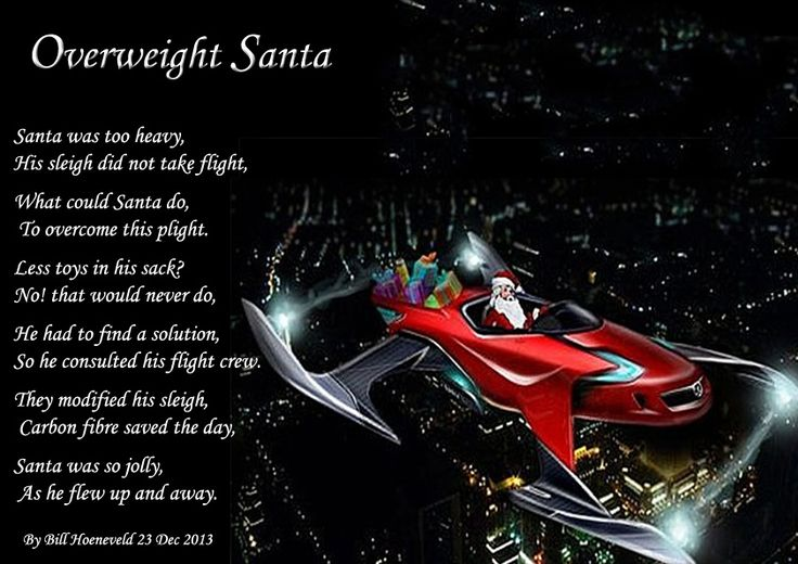 Overweight Santa - Holiday Poems