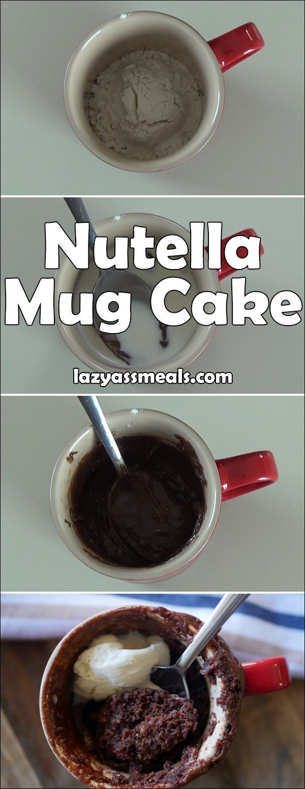 If you're a fan of nutella then you're going to love this nutella mug cake! It's rich, gooey and super easy to quickly whip up.