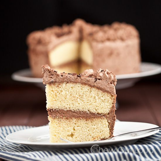 Cake With Chocolate Whipped Cream Frosting : Tender Yellow Cake with Chocolate Whipped Cream Frosting ...