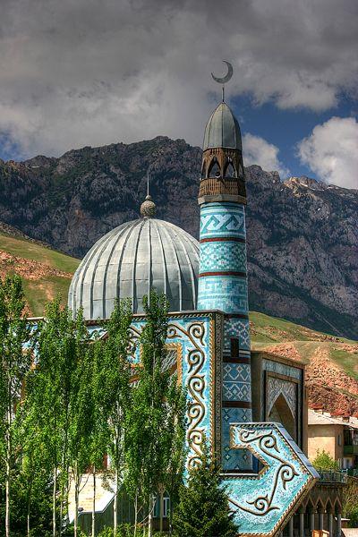 Mosque in Naryn, Kyrgyzstan