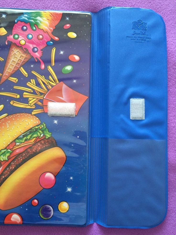 Vintage Lisa Frank Junk Food 1989 Trapper Keeper Binder | eBay