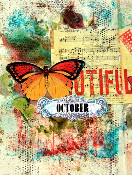 Beautiful October... mixed media... artfulplayground.wordpress.com