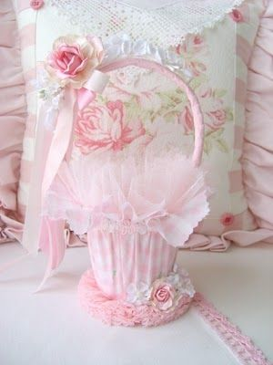 Easter basket. I think it can be adapted to wedding basket (maybe containing rice)