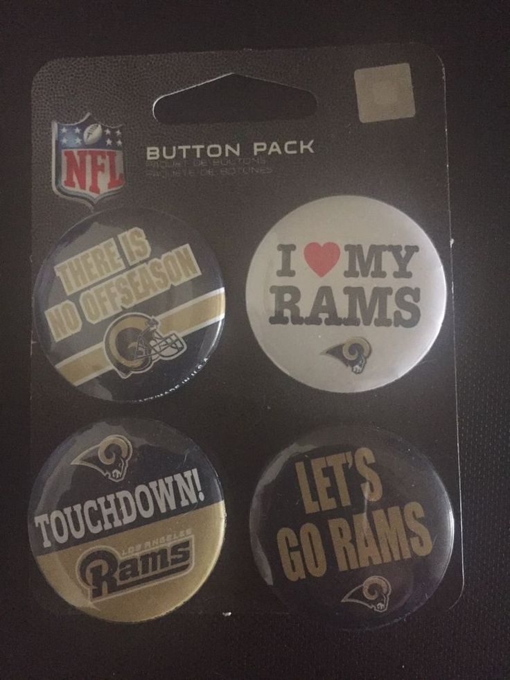 2017 Los Angeles Rams 4 Pack Buttons New | Sports Mem, Cards & Fan Shop, Fan Apparel & Souvenirs, Football-NFL | eBay!