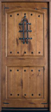 Knotty Alder Solid Wood Front Entry Door: Beautiful!
