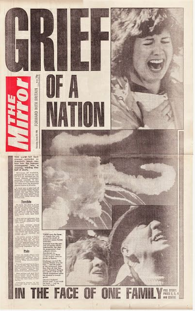 Hold The Front Page: Space Shuttle Challenger disaster