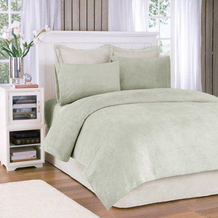 Comfort Classics Soloft Plush Solid Micro Raschel Bedding Sheet Set, Green