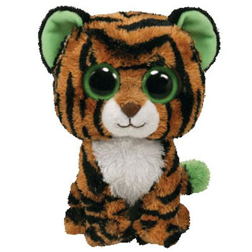 Ty Beanie Boos Stripes The Tiger Solid Eye Color