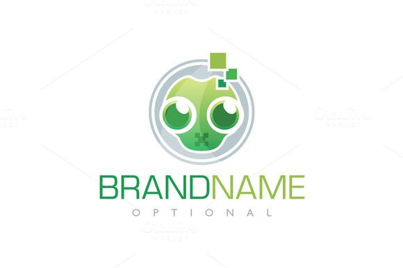 For sale. Only $29 - technology, alien, reptile, pixel, face, cute, lizard, smart, idea, silent, solution, green, orange, memorable, modern, fun, creative, mascot, simple, character, head, creativity, data, digital, media, computer, information, astronaut, spaceman, logo, design, template,