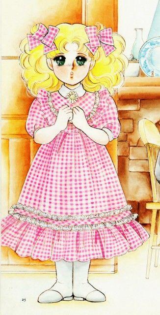 Candy con una margherita in mano - disegno originale di Yumiko Igarashi.