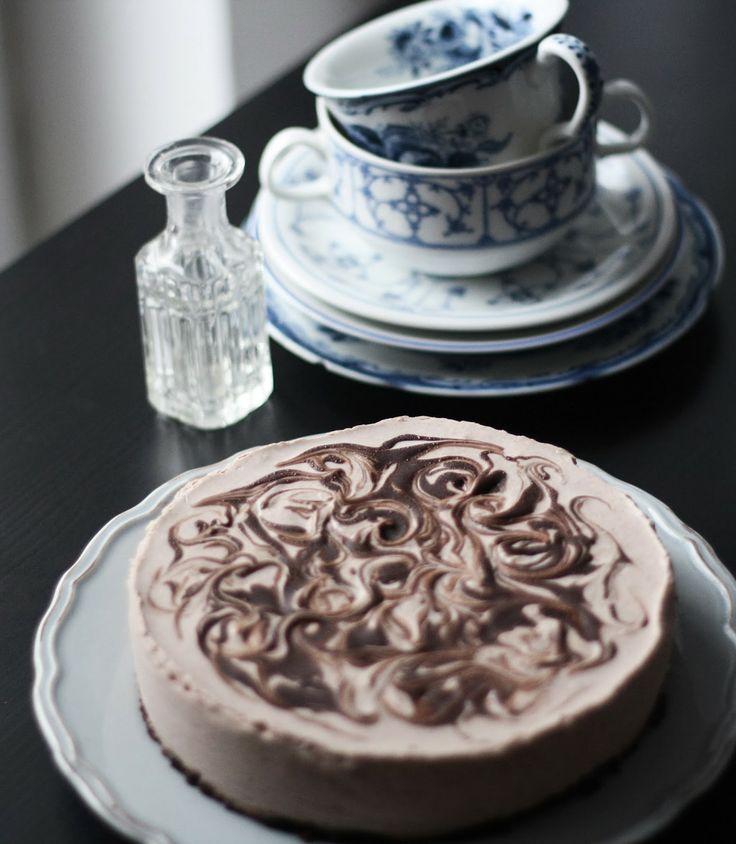 Nadýchaný čokoládový cheesecake