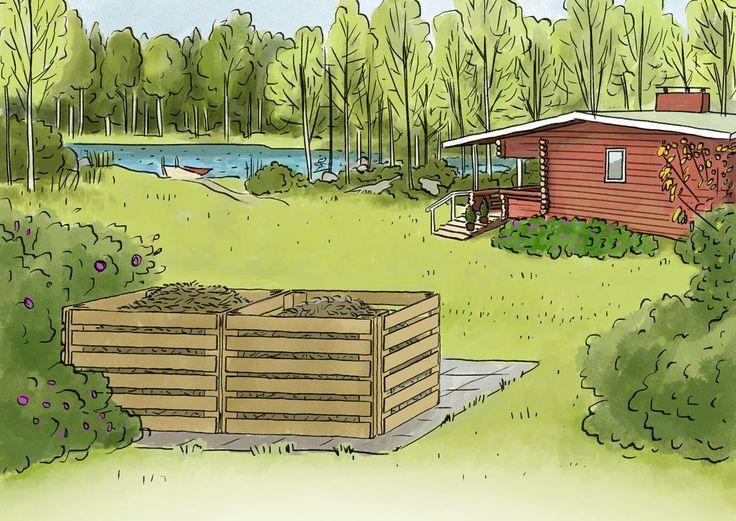 Laudasta rakennettu kompostikehikko valmistuu helposti vaikka päivässä. Katso Meidän Mökin ohjeet ja nikkaroi itse siisti kompostikehikko puutarhaan!