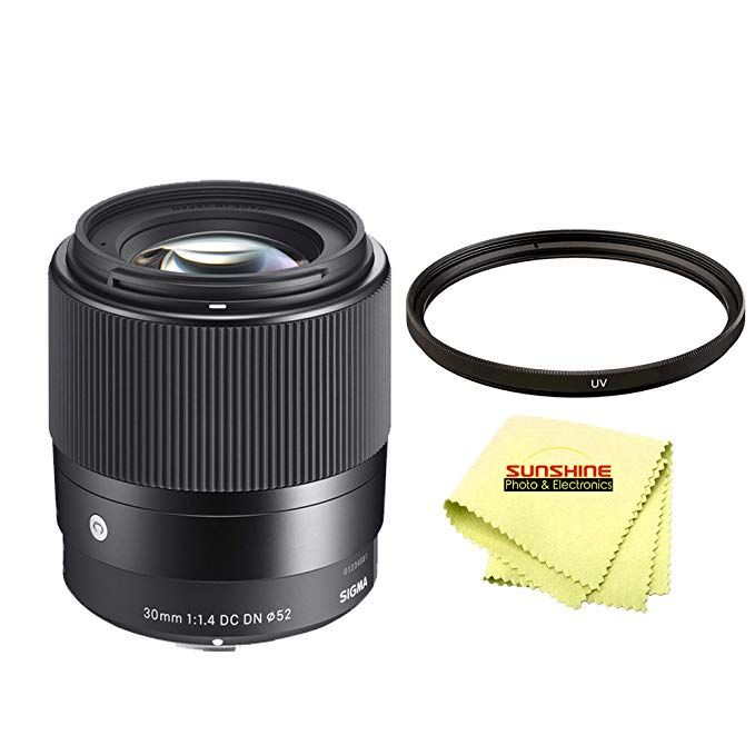 Sigma 30mm F1 4 Contemporary Dc Dn Lens For Sony E Mount Cameras Sunshine Starter Pack Review Sony E Mount E Mount Starter Pack