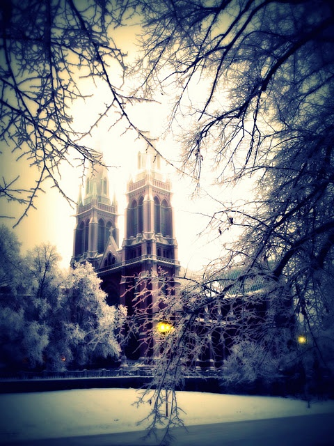 Winter wonderland in Helsinki, Finland