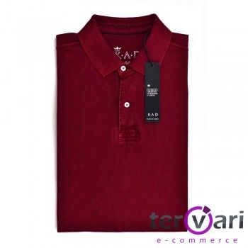 Camisa Pólo Masculina Retilínea em Malha Piquet K A D - 26136 26136-NNN - NNN-Vinho - Tervari.com - Carteiras Masculinas - Carteiras Femininas - Acessórios - NNN-Vinho