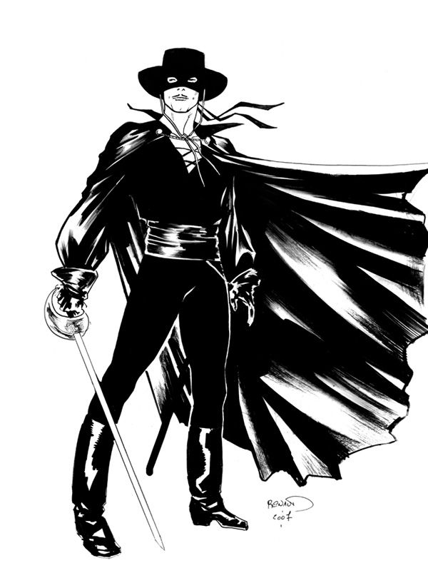 Coloring Page Zorro 1