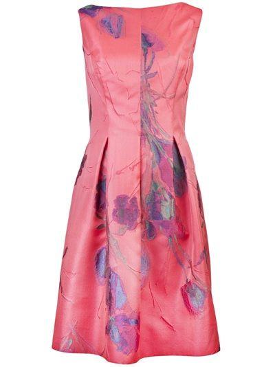 Lela Rose Sleeveless Floral Dress