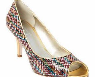 Lotus Sequin Court Shoes Dare to be different with these statement multi-coloured court shoes. If you fancy adding a little colour to your wardrobe these will surely do the job and with an optional matching clutch bag. Lotus  http://www.comparestoreprices.co.uk/womens-shoes/lotus-sequin-court-shoes.asp