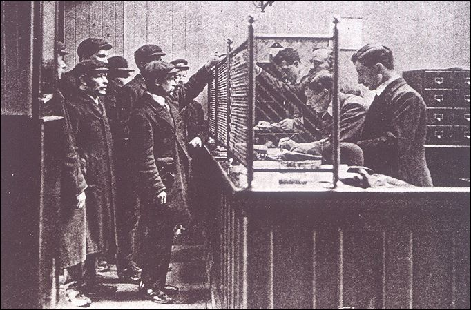.. Camberwell: first Labour exchange in Britain opened in 1910 London, Winston Churchill then president of Board of Trade