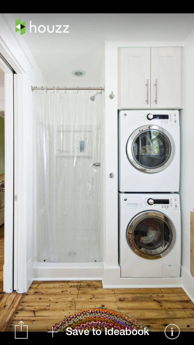 Lake bathroom and laundry combo