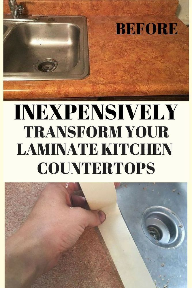 When Youu0027re SO Over Your Laminate Kitchen Countertops This Might Be The  Most Inexpensive Way To Dramatically Transform Them! #DIY #KitchenHack # Countertop # ...