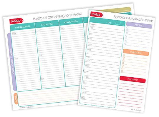 Planos de organização do @Tanlup :)