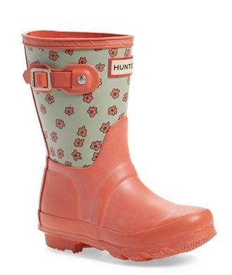 Floral kids Hunter rain boots