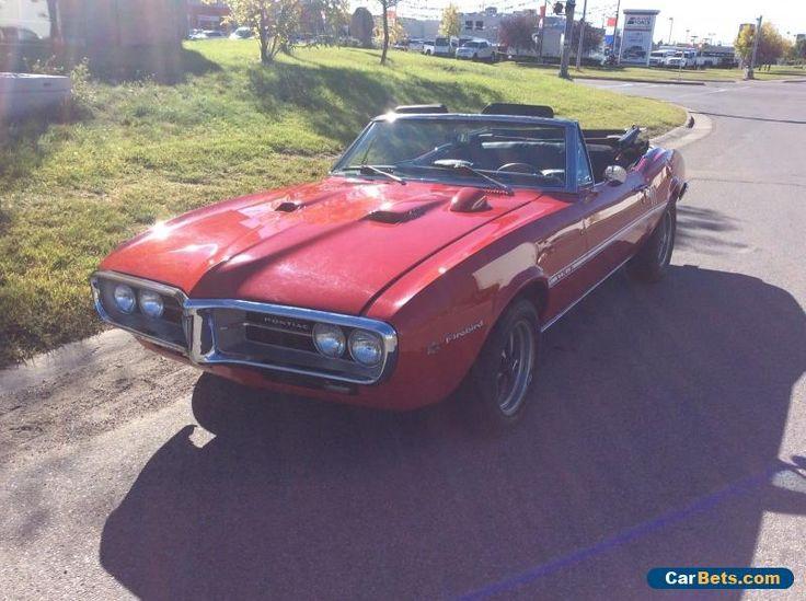 1967 Pontiac Firebird Convertible  #pontiac #firebird #forsale #canada