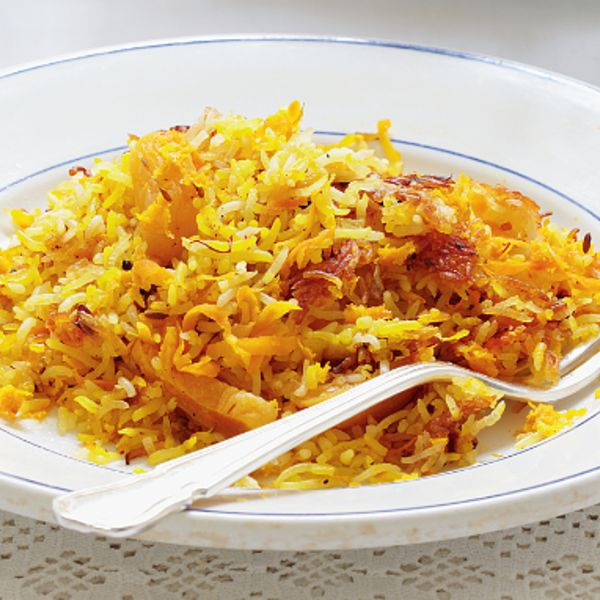Mary Berry shares her recipe for Persian Rice from her cookbook Mary Berry's Absolute Favourites. This is a different way to serve basmati rice, inspired by traditional Iranian cuisine.