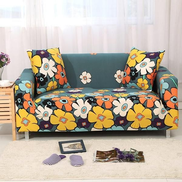 Flower World Sofa Cover In 2020 Sofa Covers Couch Covers Floral Sofa