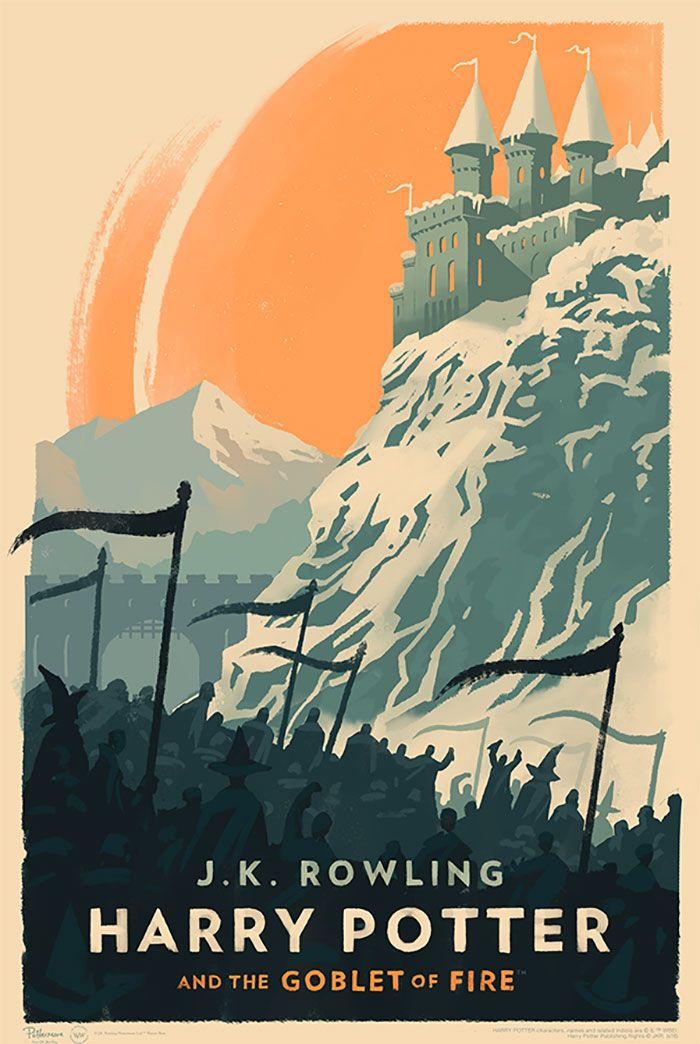 Magical Vintage Harry Potter Book Covers By Olly Moss