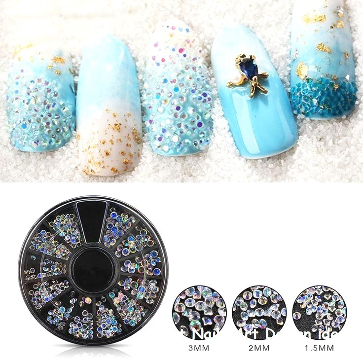 Beautiful And Colorful Art Designs For Short Nails Nailsdesign Shortnails Nail Art Hacks Nail Art Wheel Rhinestone Nails