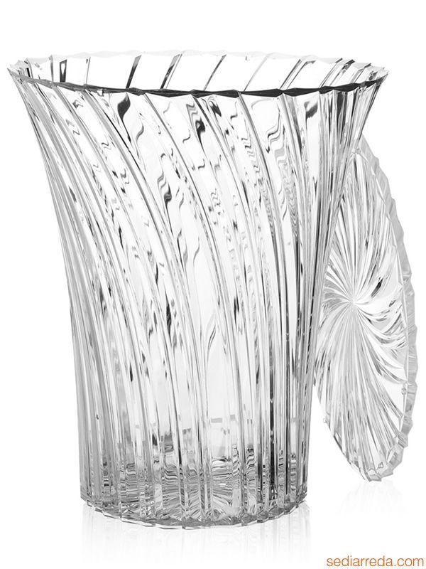 Sparkle S | Kartell low stool, transparent