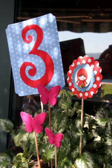 Decoración, fiestas y manualidades varias. Rebeca Terrón: Fiesta Caperucita