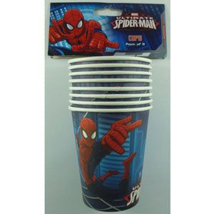 1079 - Spiderman Cups. Pack of 8 Spiderman Ultimate Cup 266ml - Pack of 8