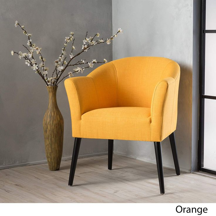 Charmaine fabric accent chair in orange
