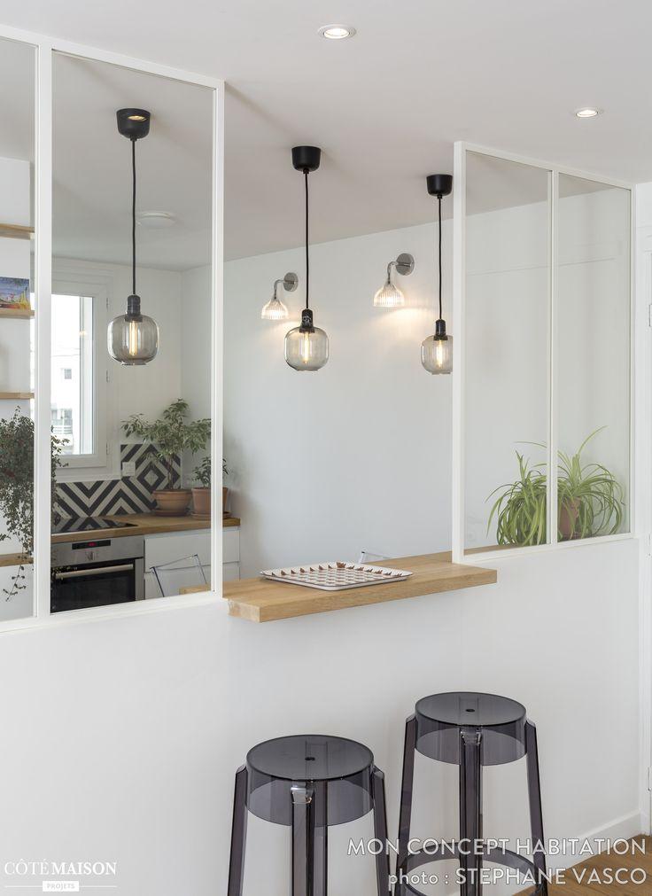 Un appartement rénové à Paris 19e, mon concept habitation - Côté Maison
