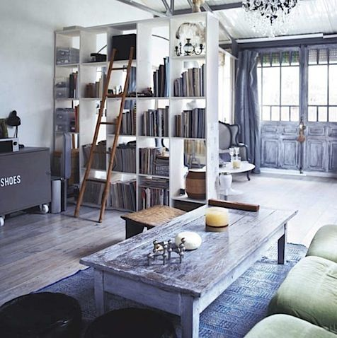 love the bookshelves and space